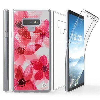 Samsung Galaxy Note 9 Flower Art Transparent Clear Cell Phone Case SM-N960