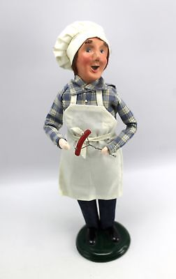 Byers Choice Carolers 2010 Man with HOT DOG CHEF BBQ Grill Master Doll Figure