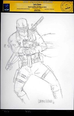 Snake Eyes ORIGINAL PENCIL SKETCH CGC SS Art by Larry Hama G.I. Joe ARAH