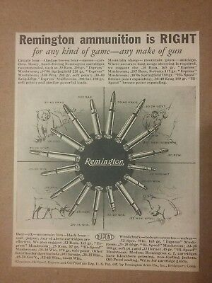 1938 Remington Ammunition Ad Cartridges
