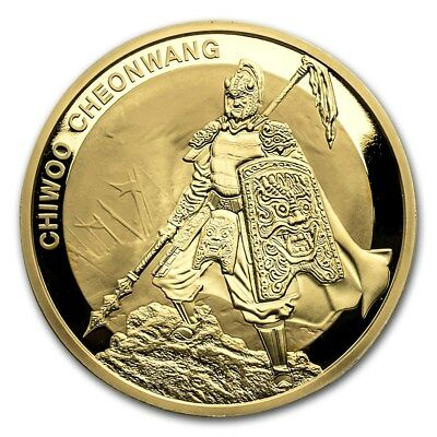 2016 South Korea 1 oz Gold 1 Clay Chiwoo Cheonwang BU