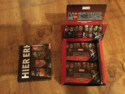 Marvel Missions Trading Card Game 20 Booster