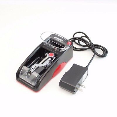Black/Red Electric Cigarette Tobacco Automatic Injection Roller Maker