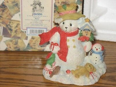 Cherished Teddies 706906 In The Meadow We Can Build a Snowman MERRY Figurine