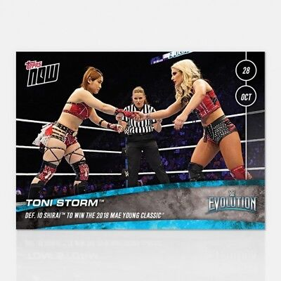 2018 Topps Now Wwe #63 Toni Storm Defeated Io Shira To Win Mae Young Classic