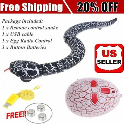 Infrared RC Remote Control attlesnake Snake Fun Joke Mischief Toy Tricky Gift MS