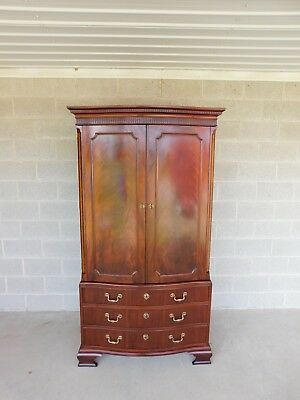 BAKER Chippendale Style Mahogany Armoire Chest