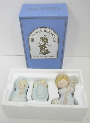 "Lot/3 Avon Heavenly Blessings ""Holy Family"" Nativity Collection 1986 Christmas"