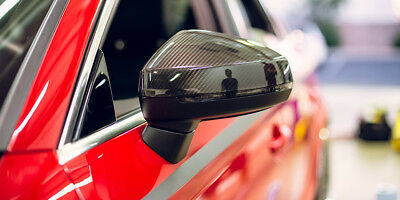 Full Carbon Fibre Side Wing Mirror Cover Caps Audi A3 S3 Rs3 8V Quattro 12-18 Rs