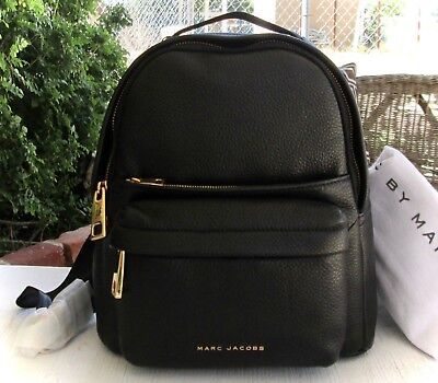 famous brand great variety styles find lowest price MARC JACOBS SMALL Black Leather Varsity Pack Backpack Purse Storage Dust  Bag New