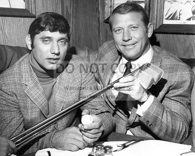 Joe Namath And Mickey Mantle New York Sports Legends - 8X10 Photo (Rt294)