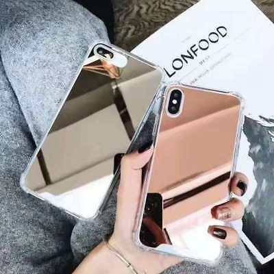 New Luxury Fashion Airbag Makeup Mirror Case Cover For iPhone 6 7 8 X XR XS Max