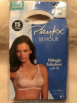 fd74e7ee72b4d NEW PLAYTEX 18 Hour Fittingly Fabulous White Bra Size 40DD Wirefree ...