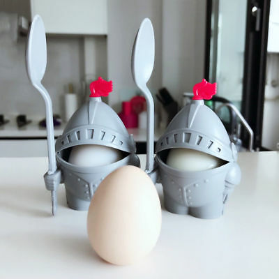 Cute Egg Cup Holder Arthur Boiled With Eating Spoon Knight in Shining Armour