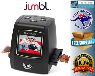 Jumbl 22MP All-In-1 Film & Slide Scanner w/Speed-Load Adapters for 35mm Negative