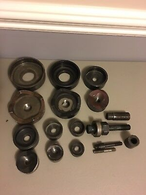 """Greenlee conduit knockout punch set 1-1/4"""" to 4"""" And Parts"""