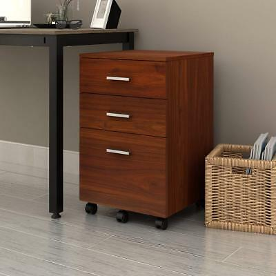 DEVAISE 3 Drawer wooden Mobile Filing Cabinet Beside Table as Office & Furniture