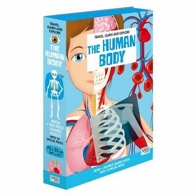 NEW SASSI Travel, Learn, & Explore, Human Body Book & Puzzle