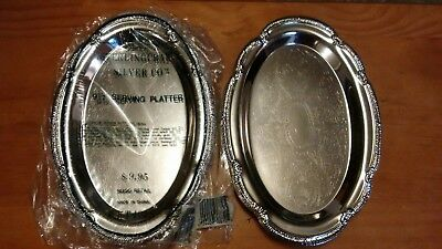 Sterling Craft Silver 2pc. Vintage Serving Platters SS  Party,wedding, NICE NEW