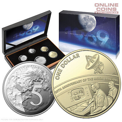 2019 ROYAL AUSTRALIAN MINT PROOF SIX COIN YEAR SET - MOON LANDING 50th