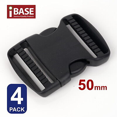 4x Quick Release Buckle Clip Side Cord Strap Fastener Belt Dual Adjustable 50mm