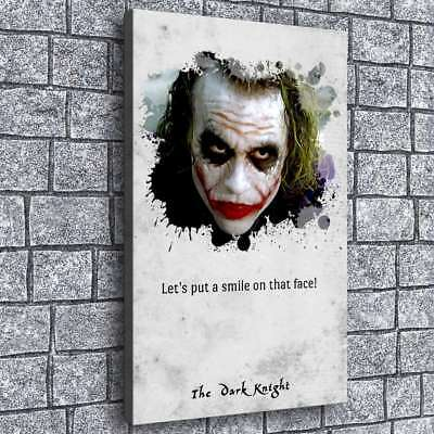 "Heath Ledger Joker HD Canvas prints Painting Home decor Picture Wall art 16""x26"