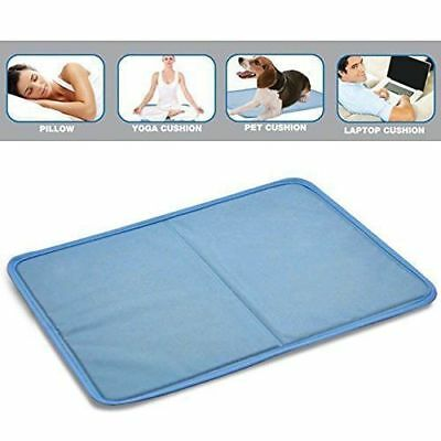 2/4x Magic Cooling Gel Pillow Blue Cool Pad Mat Sleeping Body Bed Topper Pet AU