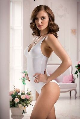 NEW! Cotton Club 'Susanna' Bodysuit - White - Made in Italy
