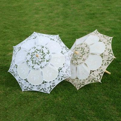 Lace Parasol Umbrella Beautiful Vintage Handmade For Bridal Wedding Party Decor
