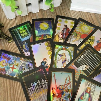 78 Rider Waite Tarot Cards Deck Vintage Colorful Box Future Telling Game Gift