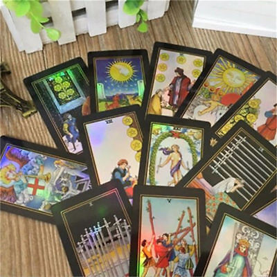 78Pcs Rider Waite Tarot Cards Deck Vintage Colorful Box Future Telling Game Gift