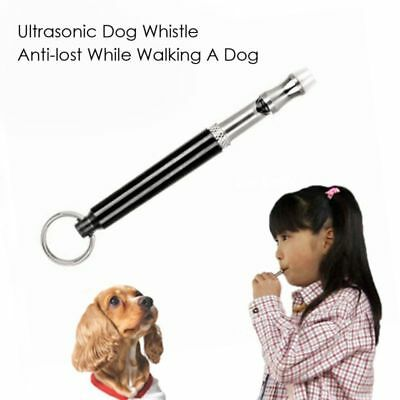Dog Whistle Stop Barking Stopper Ultrasonic Sound Repeller Train With Strap NEA