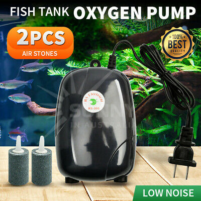 2Pcs Air Bubble Disk Stone Aerator Aquarium Fish Tank Pond Oxygen Pump HOT EA