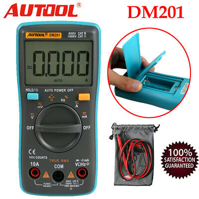 New DM201 Auto Digital Multimeter AC/DC Ammeter Voltmeter Auto Meter 6000 Counts