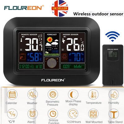Color Wireless Weather Station Forecaster Temperature Humidity Sensor Calendar