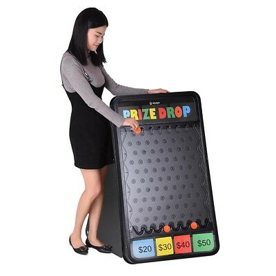 """41""""x25"""" Prize Drop Board Game w/ LED Light 12 Pucks Carnival Party Trade Show US"""