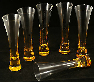 Veuve Clicquot Ponsardin Champagne Trendy Glasses X 6  Boxed Glass Not Plastic