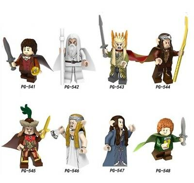 Lord of the Rings Gandalf Thranduil Elrond Galadriel Figure Building Blocks Toys