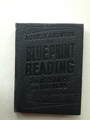 Vintage, Audels Answers on Blueprint Reading for Mechanics and Builders, 1941