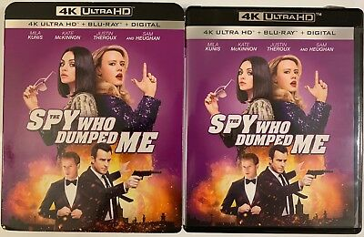 The Spy Who Dumped Me 4K Ultra Hd Blu Ray 2 Disc Set + Slipcover Sleeve Freeship