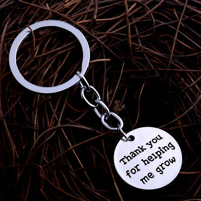 'Thank You For Helping Me Grow' Keychains Gift For Teachers Key Chains Key Ring