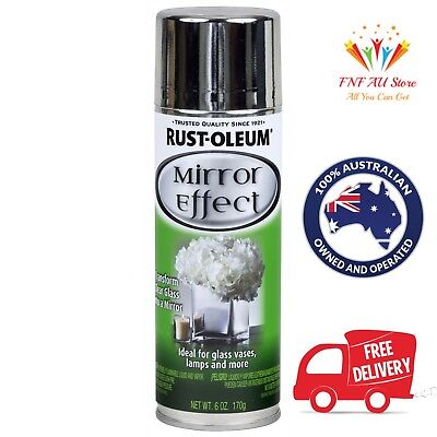Rust-Oleum Specialty Mirror Effect Spray Paint Reflective Finish 170g. Aus Stock