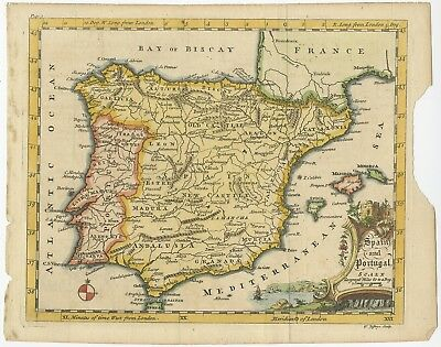 Spain and Portugal - Jefferys (c.1755)