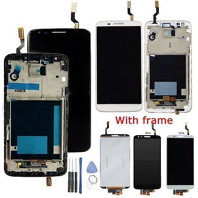 For LG G2 D800 D802 D805 D806 LCD Display Touch Screen Digitizer Glass + Frame