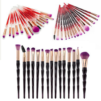 15 PCS Unicorn Diamond Make up Brushes Set Foundation Eyeshadow Lip Powder Brush