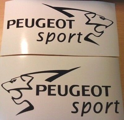 x2 pug peugeot sport car side stickers graphics vinyl decals L+R rally racing