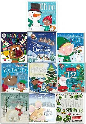 Christmas Wishes Collection 10 Books Set Children Picture Books Gift Pack