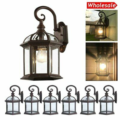 LOT1-20 Outdoor Wall Light Sconce Exterior Porch Patio Lamp Lighting Fixture BE