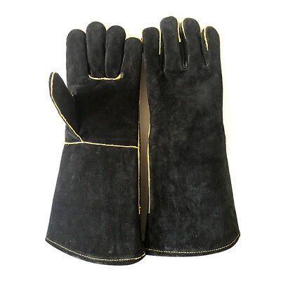 Welding Leather Gloves Gauntlets Welders With Heat Resistant Stitches