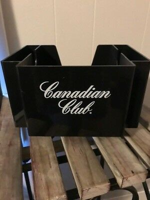 Canadian Club Whisky Plastic Napkin and Straw caddy holder black